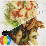 今週のランチセット「海老のマヨネーズソース」「鶏とゴーヤのトウチ炒め」です!