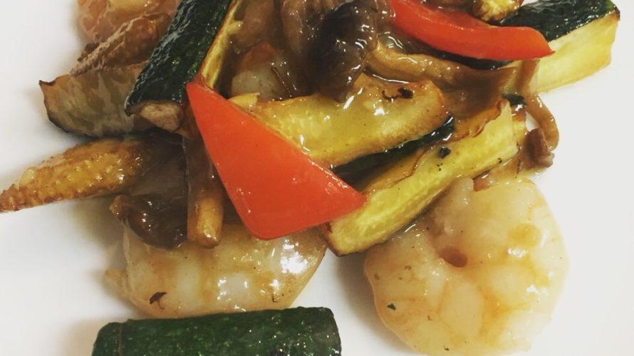 お盆のご来店ありがとうございます!今週のランチセットは「海老と夏野菜のあっさり塩炒め」「回鍋肉(ホイコーロー)」です!