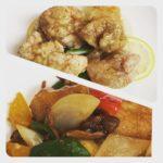 今週のランチセットは「白身魚のオイスターソース炒め」「鶏もも肉のレモンソース」です!