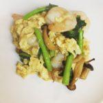 ランチセット「鶏となすのバーベキューソース炒め」「海老と卵と青菜の塩炒め」、桃スイーツ新作です!