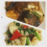 今週のランチセットは「エビ、白菜、春雨のピリ辛煮込み」「鶏ムネ肉とセロリのヘルシー塩炒め」、新しいデザートもあります!