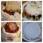 最近ご注文いただいたオーダーメイドケーキとプレートの紹介です!