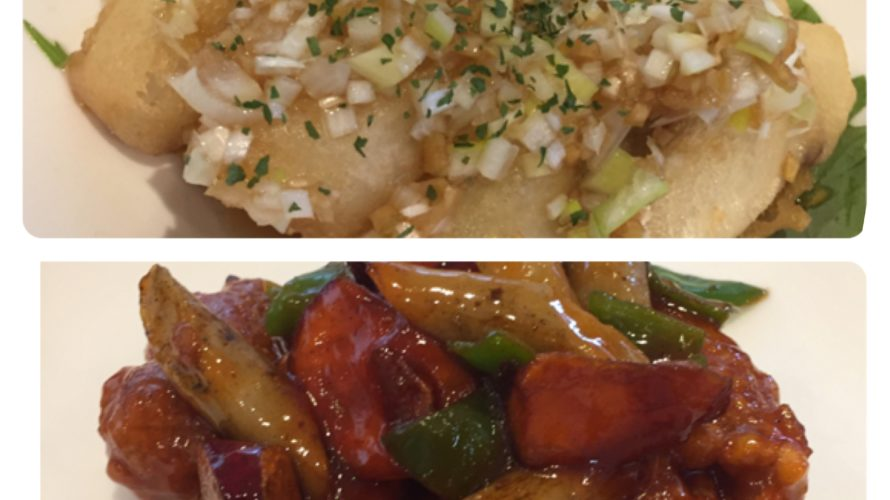今週のランチセットは「太刀魚のフリッター 油淋ソース」「広東風酢豚」、ハロウィン企画行っています!